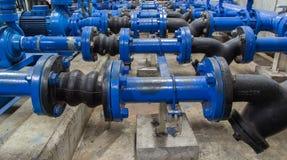 Water pressure meter installed Royalty Free Stock Photo
