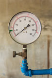 Water pressure meter installed Royalty Free Stock Images