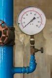 Water pressure meter installed Stock Images