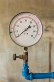 Water pressure meter installed Stock Photos