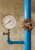 Water pressure meter installed Royalty Free Stock Image