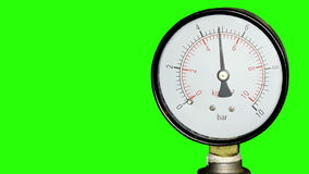 Water pressure meter installed with green screen stock video