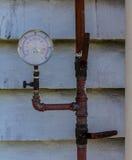 Water pressure meter Royalty Free Stock Image