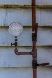 Water pressure meter Stock Images