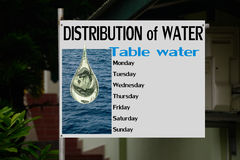 Water problem. Distribution of water.  Stock Photography