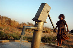 Water Problem in India Stock Photo