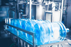 Water production line Royalty Free Stock Images