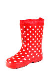 Water-proof boots. Children's water-proof boots on a white background Stock Image