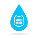 Water proof drop icon Royalty Free Stock Image