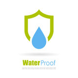 Water proof logo Royalty Free Stock Image