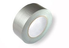 Water proof reinforced adhesive tpl tape (duct), gray color with Royalty Free Stock Photos