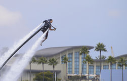 Water-propelled jetpack Royalty Free Stock Photo
