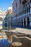 Water puddles in Venice Stock Image
