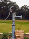 Water Pump. And bucket in a cottage garden Royalty Free Stock Photography