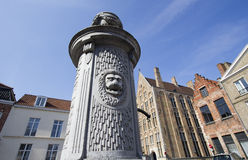 Water pump in Bruges Royalty Free Stock Images