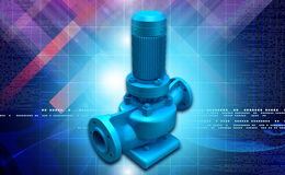 Water pump. Digital illustration of a water pump in digital background royalty free illustration