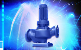 Water pump. Digital illustration of a water pump in digital background vector illustration