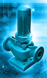 Water pump. Digital illustration of a water pump in digital background stock illustration