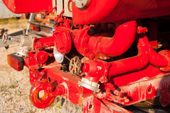 Water pump equipment of the fire truck Royalty Free Stock Image