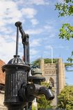 Water pump in Hambledon village centre. Royalty Free Stock Images
