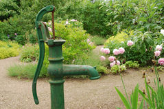 Water pump. A Hand-operated water pump Stock Photo