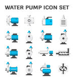 Water pump icon. Vector icon of electric water pump and agriculture equipment for water distribution isolated on white background Royalty Free Stock Image