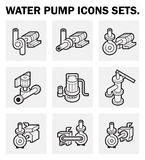 Water pump. Icons sets on white background Royalty Free Stock Images
