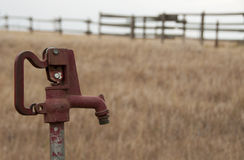 Water pump on prairie Stock Photography