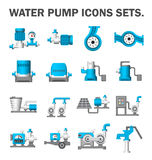 Water pump set. Water pump vector icons sets Stock Photography