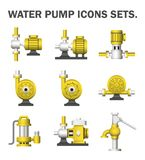 Water pump. Sets isolated on white background Royalty Free Stock Photos