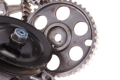 Water pump with several gears Royalty Free Stock Photography