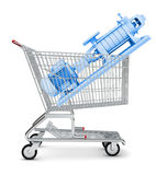 Water pump in shopping cart Stock Photography