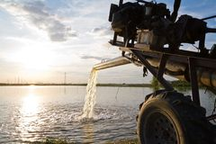 Water pump supply for agricultural universal use in fish and shr Royalty Free Stock Photos