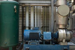 Water pump. System in factory Royalty Free Stock Photos