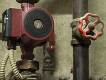 Water pump and a valve Stock Photography