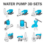 Water pump vector. Vector of water pump sets  on white Royalty Free Stock Image