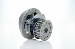 Car water pump. Water pump.  on white with clipping path Royalty Free Stock Image