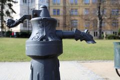 Water pumpin in a city park - detail Royalty Free Stock Images