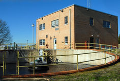 Water pumping plant station Stock Image