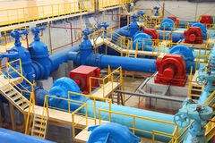 Water pumping station stock images