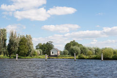 Water pumping station. Near Dutch river the Eem Stock Image