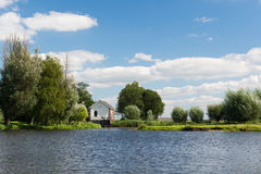 Water pumping station. Near Dutch river the Eem Stock Images