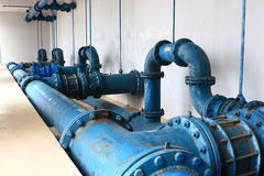 Water pumping station Royalty Free Stock Image