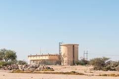 Water pumping station next to the B2-road near Swakopmund Stock Photos