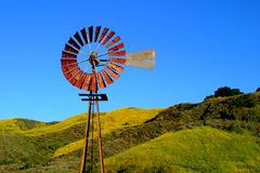 Water Pumping Windmill Stock Images