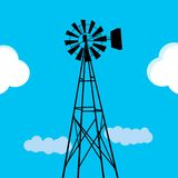 Water pumping windmill Stock Photography