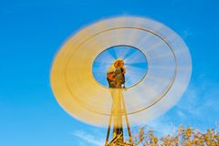 Windmill turning at high speed Stock Photo
