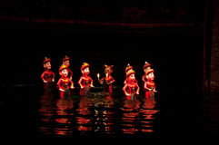 Water puppet show in Hanoi Vietnam Royalty Free Stock Photos