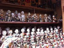 Water puppets in hanoi. Traditional vietnamese puppets. Old dolls Stock Images