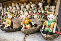 Water puppets in Hanoi, Vietnam. Traditional water puppets in Hanoi, Vietnam Stock Photos